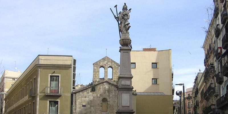 Obra de arte en Barcelona Santa Eulàlia