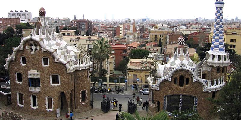Obra de arte en Barcelona de Gaudí Parc Güell